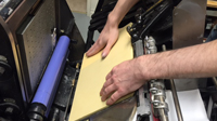 Printer setup on letterpress