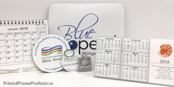 Custom promo products for holiday gifts.