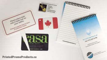 Custom printed waterproof paper product samples