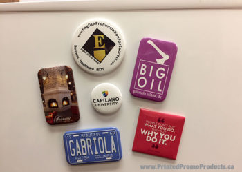 Custom printed rigid fridge magnets.