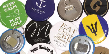 Array of custom printed bottle openers
