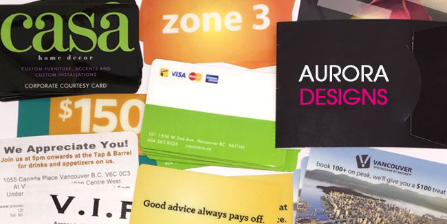 An array of custom printed plastic cards and card holders.