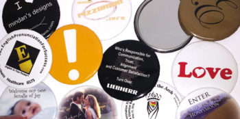 Array of custom printed pocket mirrors