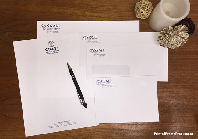 Custom printed stationery - letterhead and envelopes.