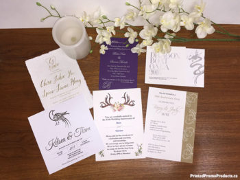 Custom printed invitations.