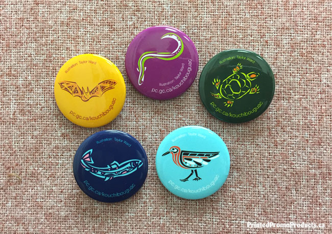 Samples of custom button pins