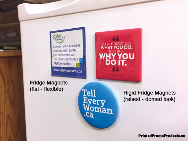 Samples of custom fridge magnets