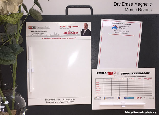Custom printed erasable magnetic boards, dry erase.