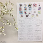 Custom printed year at a glance wall calendars.