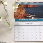 Custom printed wall flip calendars.