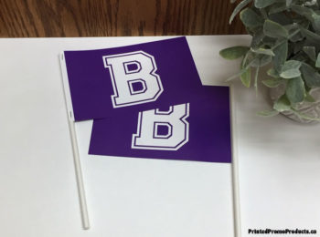 Custom printed paper flags.