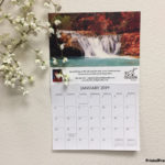 Custom printed wall calendar with tear away sheets.
