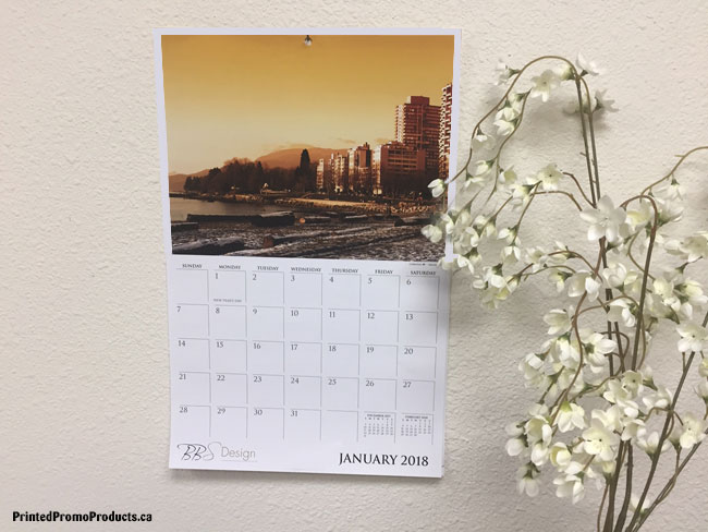 Custom printed wall calendars with tear away sheets.