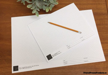 Custom isometric grid notepads.