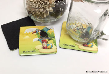 Rubber back drink coasters.